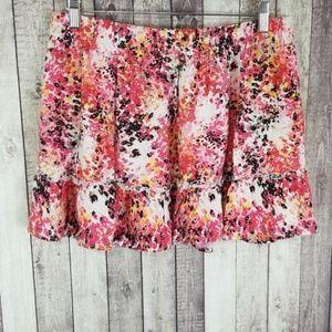 Candie's floral print juniors mini skirt